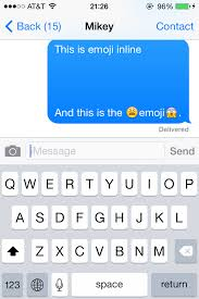 emoji text ios sharing images with text in messages like emoji stack overflow