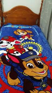 nickelodeon paw patrol zippy sack single twin 3 pc kid soft blanket bedding set envy