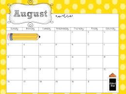 Preschool Calendar Templates As Well As Free Teacher Calendar ...