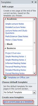 Onenote 2010 Templates Creating A Template In Onenote 2010 Officetutor Usa