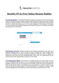 Free Online Resumes Adorable Benefits Of An Free Online Resume Builder By Jordan Issuu
