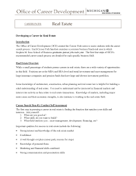 Cover Letter Realtor Resume Example Example Of Realtor Resume