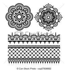 Henna Pattern Gorgeous Mehndi Indian Henna Tattoo Pattern Vector Ornament Orient
