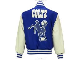 mens indianapolis colts nfl mens wool and leather jacket royalblue white 20823077