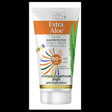 "<b>Солнцезащитный крем</b> для всей семьи SPF 80+ серии ""<b>Extra Aloe</b>"""