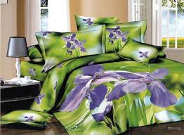 new beautiful 4pc 100 cotton font b comforter duvet doona cover sets in purple and green plan 17
