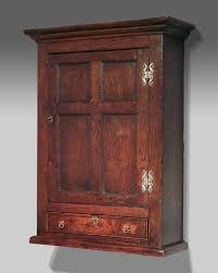 antique oak wall hanging cupboard oak