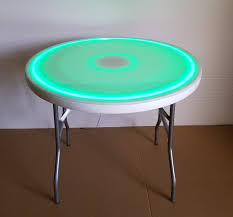 36 round folding glow table remote control for led