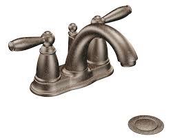 Moen Two Handle Kitchen Faucet Moen 6610orb Brantford 2 Handle Lavatory Faucet With Drain