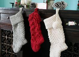 Crochet Christmas Stocking Pattern Enchanting Jumbo Crochet Christmas Stockings Sewrella
