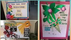ptm display board bulletin board for pas teachers meeting display board