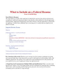 Pay For A Resumes What To Include On A Federal Resume Bop