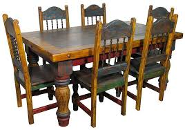 mexican country style painted dining table and chairs this would look awesome in my house