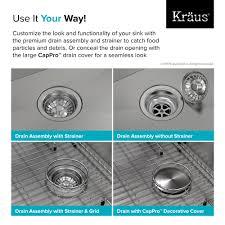 kraus pax 8482 zero radius 33 single bowl stainless steel drop