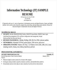 Resume Examples For It Professionals 24 It Resume Templates Pdf Doc Free Premium Templates