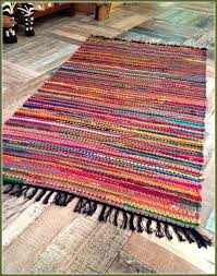 cotton rag rug photo of rugs washable cotton rag rug handwoven small style chic hippie rugs colorful