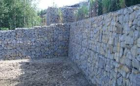 gabion stable retaining wall gabion fence seat idea