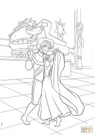 Small Picture Flynn and Rapunzel Wedding Dance coloring page Free Printable