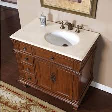 Marble Bathroom Sink Countertop 36 Inch Single Sink Bathroom Vanity With Cream Marfil Marble