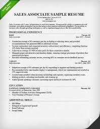 Sales Associate Resume Sample Template All Best Cv Resume Ideas