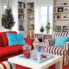 Brown And Blue Living Room Extraordinary Holiday Decoration Christmas Spirit Of White Living R On Bathroom