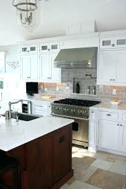 glass subway tile kitchen backsplash gray glass subway tile kitchen traditional with none gray glass subway