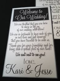 nicole created this card to attach to the welcome bags for the out Wedding Etiquette Out Of Town Guests Gift some welcome writing inspiration if your brains don't feel like coming up with something wedding etiquette out of town guests gift