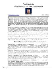 Escort Resume Impressive Sober Escort Resume 282828