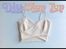 Crop Top Sewing Pattern Best DIY Nasty Gal Wrap Crop Top Sewing From Tank Top Body Suit YouTube