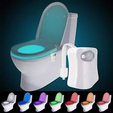 Toilet Bowl Light The Original Toilet Night Light Gadget Fun Bathroom Lighting Add On Toilet Bowl Seat Motion Sensor Activated Led 9 Color Modes Weird Novelty Funny