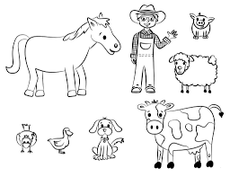 Farm Animals Coloring Sheets Aq1h Farm Animal Coloring Pages For