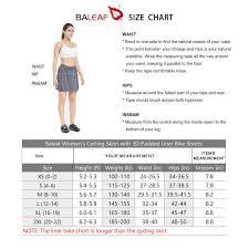 Baleaf Womens Cycling Skort With 3d Padded Liner Bike Shorts Side Pockets Upf50