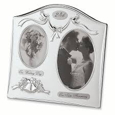 satin silver plated 25th anniversary photo frame th al for women walmart