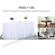perfectii table skirt cloth white table skirt tulle for weddingbirthday baby shower party round square table