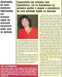 ibri jpg 17 12 2004 veja entrevista da presidente executiva doris wilhelm na revista investidor individual sobre a crescente participaccedilatildeo da mulher no mercado de