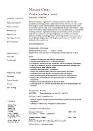 Production Manager Resumes Production Supervisor Resume Sample Example Template Job