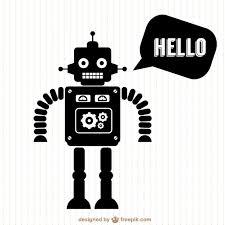 ベクトルロボットの無料シルエットデザイン ベクター画像 無料ダウンロード