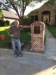 brick mailbox flag. Les Bowles - Brick Column Mailbox Flag