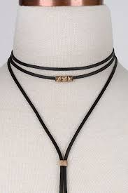 stud and leather choker wrap product images of