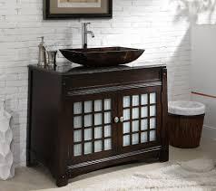 adelina 38 inch vessel sink bathroom vanity granite top