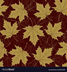 Fall Leaf Pattern Magnificent Fall Leaf Seamless Pattern Autumn Foliage Vector Image