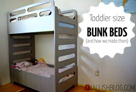 Our Unique Toddler Sized Bunk Beds Smallish