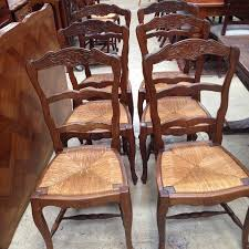 antique french oak dining table and chairs. set 6 french oak dining chairs antique table and m
