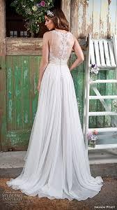 flowy wedding dress. amanda wyatt 2016 bridal dresses beautiful flowy ivory a line wedding dress jewel neckline lace embroidery. \ t
