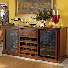 ... Bar Credenza Tall Bar Cabinet Fancy Dark Wooden Bar Credenza With Built  In Fridge ...