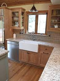 Update Oak Or Wood Cabinets Without A Drop Of Paint Kylie M Interiors Craftsman Kitchen Kitchen Design Kitchen Remodel