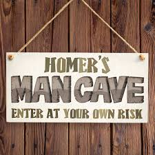 personalised man cave sign man cave door sign gift for dad
