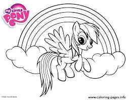 Small Picture Rainbow Dash Little Pony Coloring Pages Printable