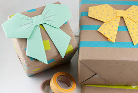 paper bag gift wrapping idea