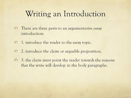 writing an argumentative essay the united states decision to drop  writing an introduction there are three parts to an argumentative essay introduction 1